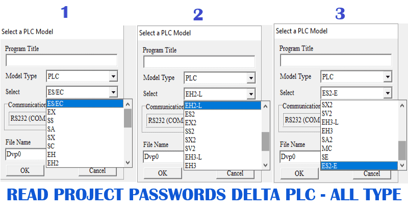 unlock password delta plc