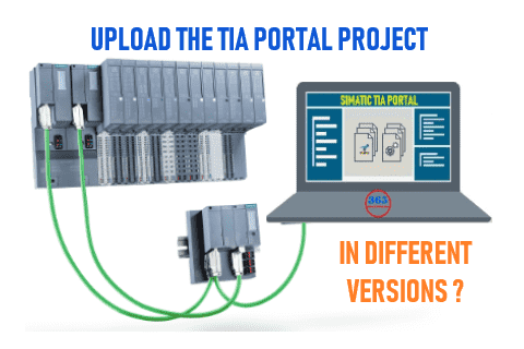 Upload TIA Portal project in different versions  What options are